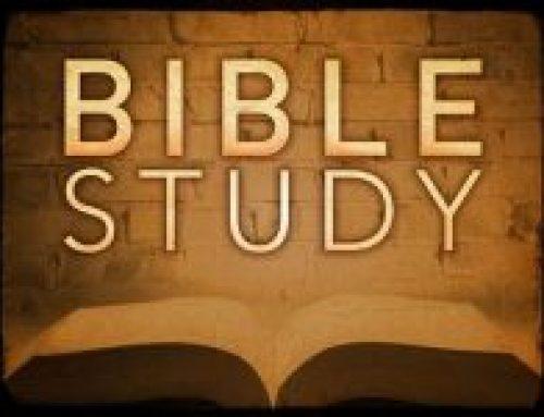 Bible Study begins Sept. 12!