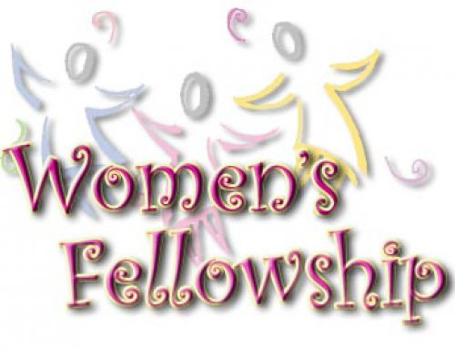 Women's Fellowship to meet Oct. 14